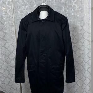 BANANA REPUBLIC Black Trench Lined Coat